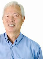 Portrait of an Asian senior businessman standing on white background Stock Photo - Royalty-Freenull, Code: 400-04811262