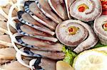 various sliced fish for your web site