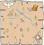 Treasure Map Stock Photo - Royalty-Free, Artist: albumkoretsky                 , Code: 400-04814734