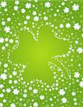 St. Patrick's background with clover, element for design, vector illustration Stock Photo - Royalty-Free, Artist: TAlex                         , Code: 400-04815719
