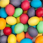 multi color eggs Stock Photo - Royalty-Free, Artist: loskutnikov                   , Code: 400-04817317