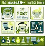 Big lady's health, beauty and spa icons set. Girls and objects emblem from big kids labels collection Stock Photo - Royalty-Free, Artist: Logo                          , Code: 400-04820853
