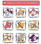 At dentist's office icons set clipart Stock Photo - Royalty-Free, Artist: icons                         , Code: 400-04821273