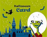 Halloween card Stock Photo - Royalty-Free, Artist: icons                         , Code: 400-04821513