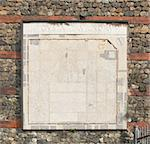 Ancient map of Turin on Roman wall in Torino, Italy Stock Photo - Royalty-Free, Artist: claudiodivizia                , Code: 400-04821674