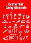 Restaurant, Dining Elements, vector food icons set Stock Photo - Royalty-Free, Artist: icons                         , Code: 400-04821801