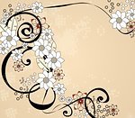 Floral background for your cards, wedding, birthday, Valentine's Day