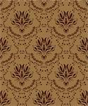 Damask seamless vector pattern.  For easy making seamless pattern just drag all group into swatches bar, and use it for filling any contours. Stock Photo - Royalty-Free, Artist: angelp                        , Code: 400-04822426