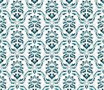 Damask seamless vector pattern.  For easy making seamless pattern just drag all group into swatches bar, and use it for filling any contours. Stock Photo - Royalty-Free, Artist: angelp                        , Code: 400-04822430