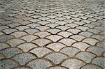 paving of street with intersetingly shaped tiles Stock Photo - Royalty-Free, Artist: PinkBadger                    , Code: 400-04824448