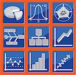 icons with different types of charts and graphs Stock Photo - Royalty-Free, Artist: antkevyv                      , Code: 400-04825153