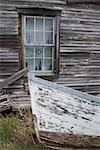 Old wooden boat and clapboard house, Canada Stock Photo - Premium Rights-Managed, Artist: Arcaid, Code: 845-04826663