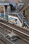 Trackside graffiti, Prenzlauer Berg, Berlin Stock Photo - Premium Rights-Managed, Artist: Arcaid, Code: 845-04826673