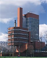 Leicester University Faculty of Engineering, England, 1959 - 1963. Exterior of office & laboratory tower. Architects: Stirling and Gowan Stock Photo - Premium Rights-Managed, Artist: Arcaid, Code: 845-04826854