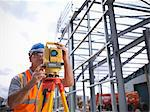 Construction worker surveying site Stock Photo - Premium Royalty-Free, Artist: Aflo Relax, Code: 649-04828569