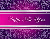 silver box - Silver  and violet Happy New Year  background Stock Photo - Royalty-Free, Artist: jelen80, Code: 400-04830224