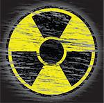 Nuclear Danger Sign in old wear out style. Stock Photo - Royalty-Free, Artist: antkevyv                      , Code: 400-04833609