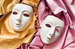Theatre concept with the white plastic masks Stock Photo - Royalty-Free, Artist: ElnurCrestock                 , Code: 400-04833723