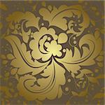 Seamless swirls and leafs pattern