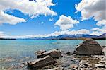 Picture of lake Tekapo on the south island of New Zealand Stock Photo - Royalty-Free, Artist: alexeys                       , Code: 400-04835276