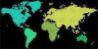 Dotted world map for print, web and business presentations Stock Photo - Royalty-Freenull, Code: 400-04836168