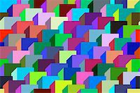 Abstract design with geometric shapes optical illusion illustration Stock Photo - Royalty-Freenull, Code: 400-04836802