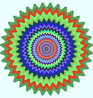 Abstract design with geometric shapes optical illusion illustration Stock Photo - Royalty-Freenull, Code: 400-04836803