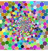 Abstract design with geometric shapes optical illusion illustration Stock Photo - Royalty-Freenull, Code: 400-04836806