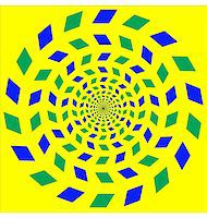 Abstract design with geometric shapes optical illusion illustration Stock Photo - Royalty-Freenull, Code: 400-04836808