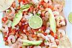 camaron shrimp ceviche raw seafood salad Mexico chili sauces Stock Photo - Royalty-Free, Artist: lunamarina                    , Code: 400-04837502