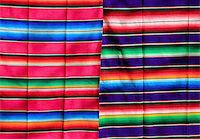 Mexican serape fabric colorful pattern texture background Stock Photo - Royalty-Freenull, Code: 400-04837555