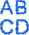 Letters of the alphabet made   up of wild flowers and butterflies. Stock Photo - Royalty-Free, Artist: guarding                      , Code: 400-04839953