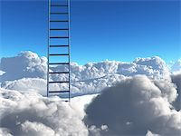 rolffimages (artist) - Ladder into sky Stock Photo - Royalty-Freenull, Code: 400-04841397