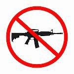 no guns allowed, abstract art illustration Stock Photo - Royalty-Free, Artist: robertosch                    , Code: 400-04841508