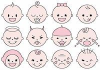 set of cute baby faces, vector illustration Stock Photo - Royalty-Freenull, Code: 400-04842068