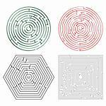 printable mazes collection against white background, abstract vector art illustration Stock Photo - Royalty-Free, Artist: robertosch                    , Code: 400-04842979