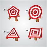 Bulls eye, vector background