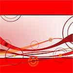 red waves and circles, vector art illustration; more drawings in my gallery Stock Photo - Royalty-Free, Artist: robertosch                    , Code: 400-04843593