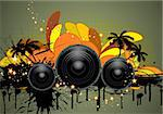 Musical grunge background. Vector illustration. Stock Photo - Royalty-Free, Artist: angelp                        , Code: 400-04845748