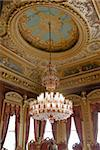 Chandelier with seeling decorations - dolmabahche Palace Stock Photo - Royalty-Free, Artist: lindom                        , Code: 400-04847263