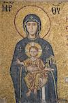 Mothe Mary with the little Jesus - Saint Sofia church Stock Photo - Royalty-Free, Artist: lindom                        , Code: 400-04847275
