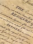 United States Declaration of Independence - closeup Stock Photo - Royalty-Free, Artist: lindom                        , Code: 400-04847279