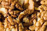 A Closeup photo of walnuts without shells Stock Photo - Royalty-Free, Artist: lindom                        , Code: 400-04847411