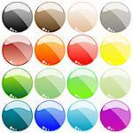 web buttons isolated on white background, abstract art illustration