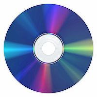 A Bluray Disc with the typical appearance Stock Photo - Royalty-Freenull, Code: 400-04847891
