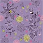 Floral seamless pattern in vector Stock Photo - Royalty-Free, Artist: sashayezik                    , Code: 400-04848851
