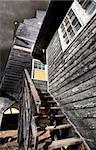Old Grain Elevator wooden landmark Saskatchewan Canada
