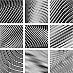 Abstract textured backgrounds in op art design. Vector art in Adobe illustrator EPS format, compressed in a zip file.  The document can be scaled to any size without loss of quality.