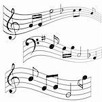 Musical notes on music sheet