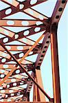 Close-up of Russian red railroad bridge Stock Photo - Royalty-Free, Artist: pressmaster                   , Code: 400-04856247
